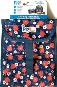 NEW PK2 By Packit Freezable Lunch Sak/ Bag Floral