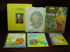 Sesame Street 5x7 Silver Plated Picture Frame Follow that Big Bird Book Dvd Lot