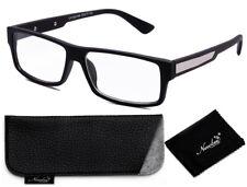 Clear Lens Glasses Matte Black Bold Classic Frame with Non Prescription Glasses