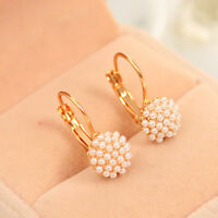 1 Pair New Fashion Jewelry Women Lady Elegant Pearl Beads Ear Stud Earrings Gift