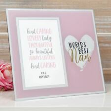 Nan Mothers Day Gifts World's Best Mirror Photo Frame