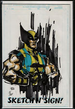 MARVEL SKETCH 'N' SIGN WOLVERINE SKETCH ZEICHNUNG + COA ZERTIFIKAT ! Stan Lee