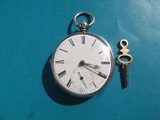Solid Silver Fusee Pocket Watch Circa 1848