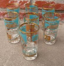 7 VINTAGE SOUTHERN COMFORT PROMO GLASSES STEAMBOAT HIGH BALL TUMBLER BEVERAGE