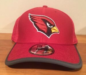Arizona Cardinals New Era 39Thirty Player Coach Sideline Cap Hat Size Med-Large