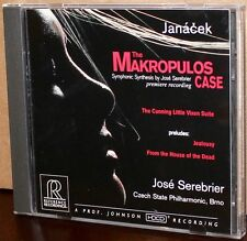 Reference Recordings CD RR-75: Janacek - Makropulos Case - SEREBRIER 1996 USA NM