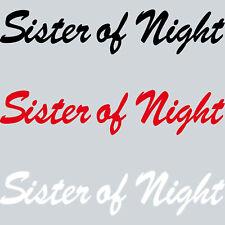 20cm Adesivi per Auto Sister Of Night Lettering Tatuaggio Decorazione Pellicola