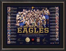 West Coast Eagles 2018 Premiers Official AFL Team Signed Litho Framed + GIFT