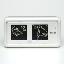 Ramfrom Yoshitomo Nara Design Flip Clock Patapata Clock Walk On White TWEMCO New
