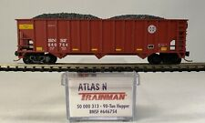 N scale Atlas 50 000 313 / 90 Ton Hopper BNSF #646754 with Micro-Trains trucks