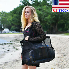 Women Large Mesh Beach Bag Handbag Shoulder Casual Satchel Travel Messenger Tote