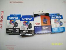 *LOT OF 4* NEW BROTHER INK CARTRIDGE & (1) OFFICE DEPOT 2 BLACK 1 CYAN 1 YELLOW
