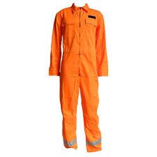 Derby Unitex Hi Vis Orange Work Boiler Suit Overalls XL