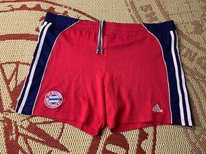 BAYERN MUNICH GERMANY 1999 2001 FOOTBALL RARE HOME SHORTS ADIDAS ORIGINAL SIZE M