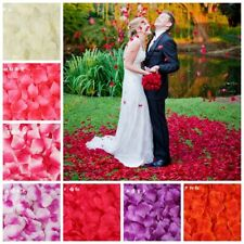 500pc Silk Rose Petals Wedding Decoration Romantic Artificial Flower Accessories