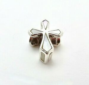 Chamilia Sterling Silver White Cross Mother of Pearl Bead Charm 2025-0540