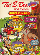 Ted E Bear coloring book RARE UNUSED