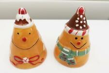 CHRISTMAS PUDDING SALT AND PEPPER SHAKERS *CERAMIC *FREE POST **