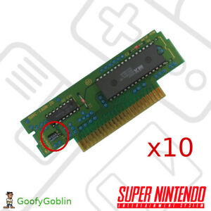 Nintendo Super Nintendo SNES Cartridge Power Capacitors - 10 Pack