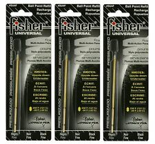 "Three Fisher Space Pen #SU4F Black Ink ""SU"" Series Universal Refills"