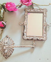 Shabby Chic Swivel Mirror Wall Mounted Swing Arm French Vintage Bathroom Vanity