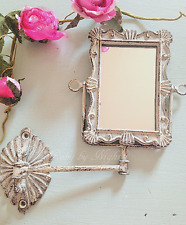 Shabby Chic Swivel Mirror Wall Mounted Swing Arm French Vintage Bathroom Vanity