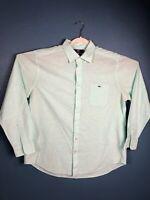 Vineyard Vines Mens XL Long Sleeve Button Down Shirt Mint Green Slim Fit Tucker