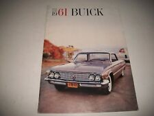 1961 FULL SIZE BUICK PRESTIGE SALES BROCHURE USA VERSION LeSABRE INVICTA ELECTRA
