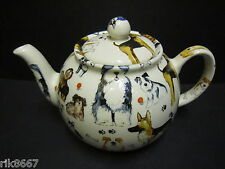 Heron Cross Pottery Dogs Dogs Dogs 6-8 Cup English Tea Pot