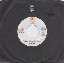 THE HOLLIES The Day That Curly Billy Shot Down Crazy Sam rare promo 45 from 1973