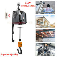 Best Quality 110V Wireless Electric Hoist Winch Hand Held 120V 500KG/1100LBS