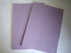 SCHOOL EXERCISE BOOKS A4 SIZE LINED PLUS MARGIN PURPLE PACK 2 BRANDED 64 PAGES