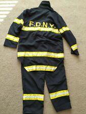 Mens Fireman fancy dress costume New York Fire Department Medium