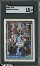 1992-93 Topps #362 Shaquille O'Neal Magic RC Rookie HOF SGC 10 GEM MINT