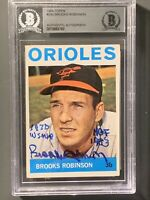 1964 Topps Brooks Robinson Autographed Card With HOF & WS MVP Inscriptions BVG