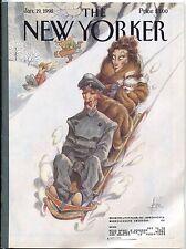 New Yorker Magazine Jan January 19 1998 De Seve John Updike Steve Martin