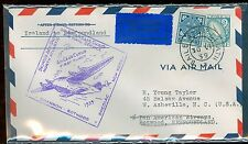 Ireland 70, 76  on First flight Ireland to Newfoundland backstamped Botwood 1939