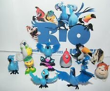 Rio Movie Figure Set of 12 with Blu, Jewel, Luiz, Nigel  Many More!