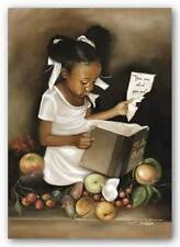 AFRICAN AMERICAN ART PRINT You Are What You Eat Hers/mini Edwin Lester