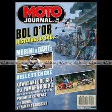 MOTO JOURNAL N°862 MORINI 400 DART HONDA CR 125 250 & 500 R APRILIA 250 AF1 1988