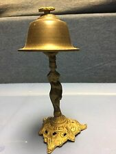 Brass Hotel Desk Bell Nude Figural Vintage/Antique