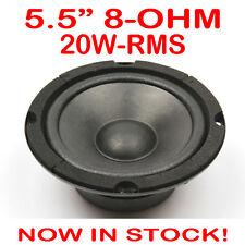 "5.5"" 20WRMS 8 Ohms PA DJ Speaker Mid Range Woofer Sub Driver 5.5 Inch Quality"