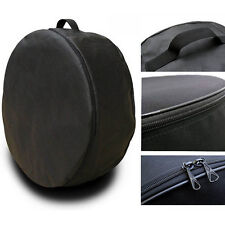 "Black Wheel Cover Spare Tire Holder Seasonal Storage Protector Bags 13-16"" siz.M"