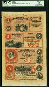 Detroit, MI- The State Bank of Michigan $1-$2-$3-$5 Remainder Sheet