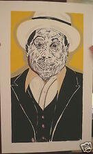 FRED BROWN   MUDDY WATERS FOR CONCERT IN  CHICAGO 1989   SILK SCREEN POSTER