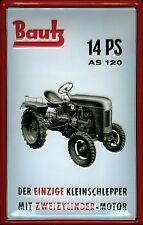 Blechschild Bautz Kleinschlepper Traktor Trecker Schild Werbeschild 20x30 cm