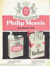 PUBLICITE ADVERTISING 115  1959  PM  PHILIP MORRIS & MARLBORO cigarettes