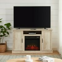 "Electric Fireplace TV Stand Media Storage Television Console Shelves for 55"" TVs"