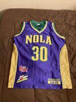 New Orleans Hornets Mardi Gras David West #30 NOLA Jersey Size Youth SGA (RARE)