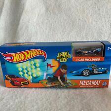 Hot Wheels Megamat Play Mat Felt 1 Car Included Race Car Toy Set 30744 New Blue
